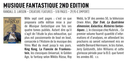 "REVIEW PUBLISHED IN ""MAD MOVIES"" magazine, France Sept. 2012"