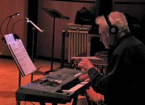 Renowned keyboardist and composer Dave Grusin rehearses on Day 3.