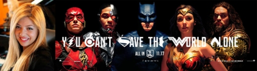 Justice League banner with Pinar