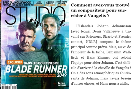 StudioCineLive Blade Runner cover&page section