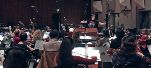 _Recording session at Warner Brothers with CMG Recording Orchestra