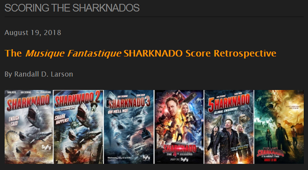 SHARKNADO SCORE RETROSPECTIVE title