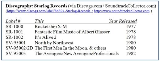 Starlog Records Discography