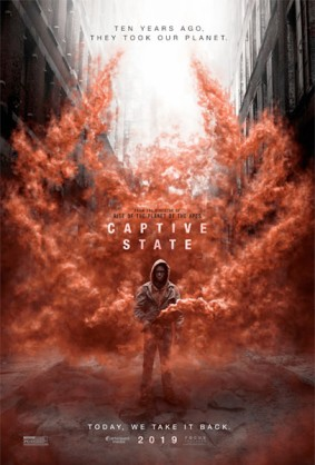 Captive State poster red smoke